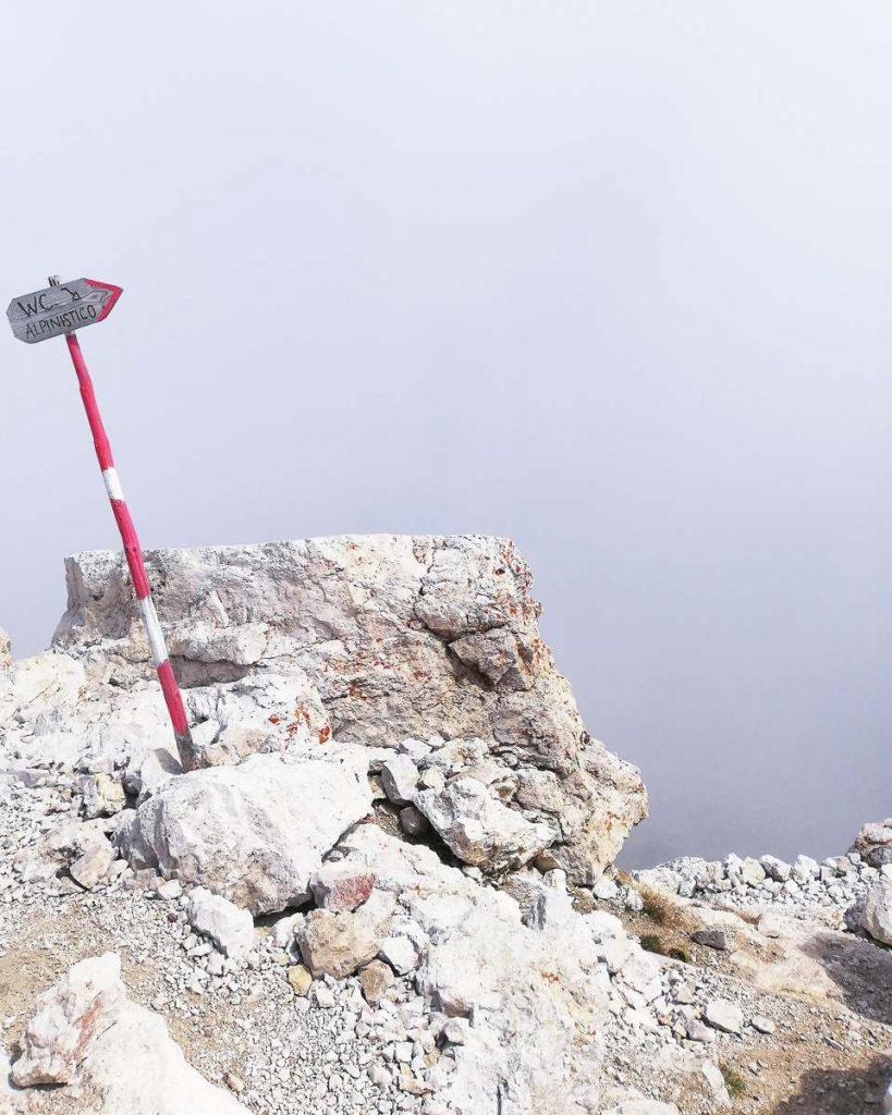 WC alpinistico sul Piz Boè