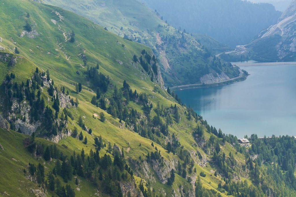 Lago Fedaia dal rifugio