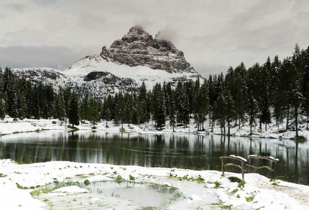 Lago d'Antorno e Tre Cime di Lavaredo